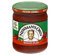 Newmans Own Salsa Medium Chunky Jar - 16 Oz