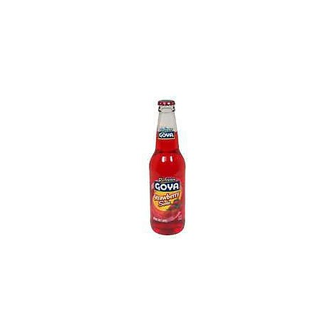 Goya Refresco Soda Strawberry Bottle - 12 Fl. Oz.