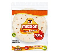 Mission Tortillas Flour Soft Taco Super Soft 10 Count - 17.5 Oz