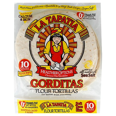 La Tapatia Tortillas Flour Gorditas Soft Taco Size 10 Count - 18 Oz