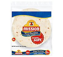 Mission Tortillas Flour Burrito Large Super Soft 8 Count - 20 Oz