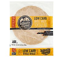 La Tortilla Factory Tortillas Whole Wheat Low Carb Large 8 Count - 17.5 Oz
