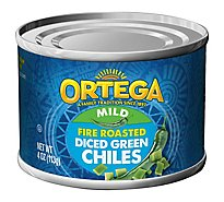 Ortega Green Chiles Diced Fire Roasted Mild Can - 4 Oz