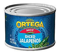 Ortega Jalapenos Diced Hot Can - 4 Oz