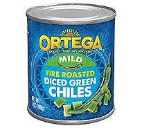 Ortega Green Chiles Diced Fire Roasted Mild Can - 7 Oz