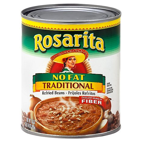 Rosarita Beans Refried Fat Free Traditional Can - 30 Oz