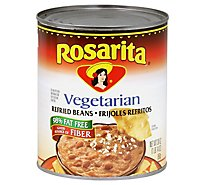 Rosarita Beans Refried Fat Free Vegetarian Can - 30 Oz