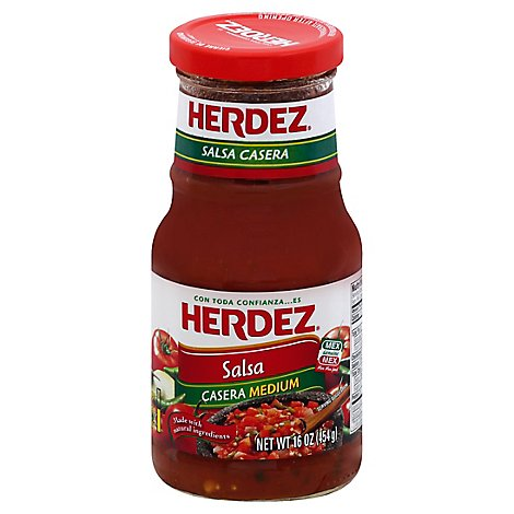 Herdez Salsa Casera Medium Jar - 16 Oz
