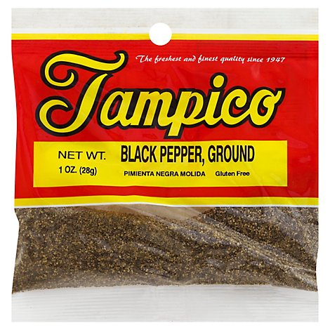 Tampico Spices Pepper Black Ground - Oz