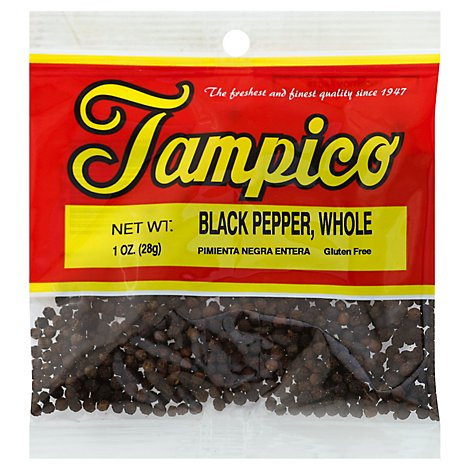 Tampico Spices Pepper Black Whole - Oz
