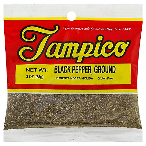 Tampico Spices Pepper Black Ground - 3 Oz