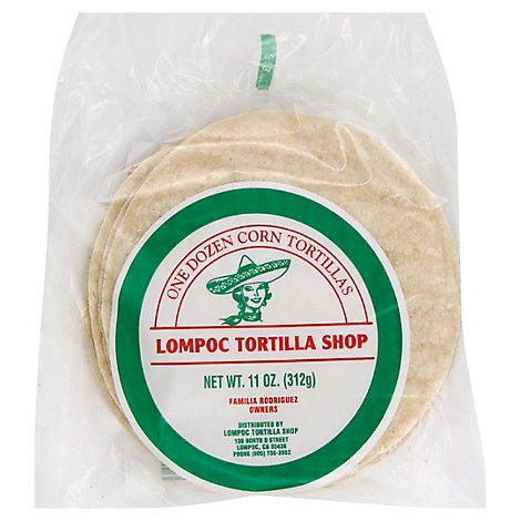 Lompoc Tortilla Shop Tortillas Bag 12 Count - 11 Oz