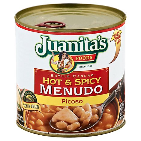Juanitas Foods Menudo Hot & Spicy Can - 29.5 Oz