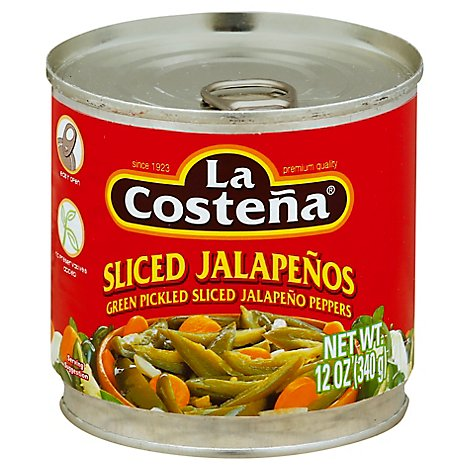 La Costena Jalapenos Sliced Can - 12 Oz