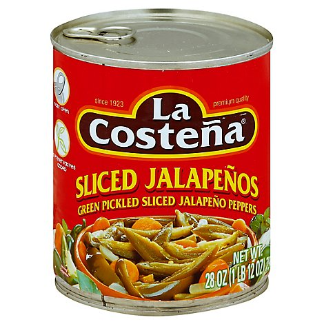 La Costena Jalapenos Sliced Can - 28 Oz