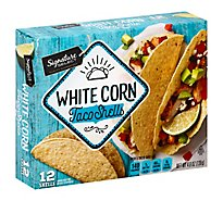 Signature SELECT Taco Shells Corn White Box 12 Count - 4.8 Oz