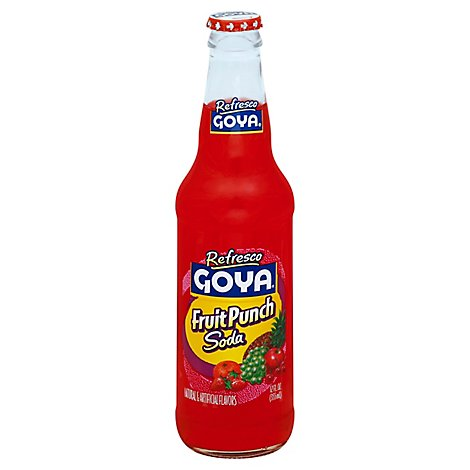 Goya Refresco Soda Fruit Punch - 12 Oz
