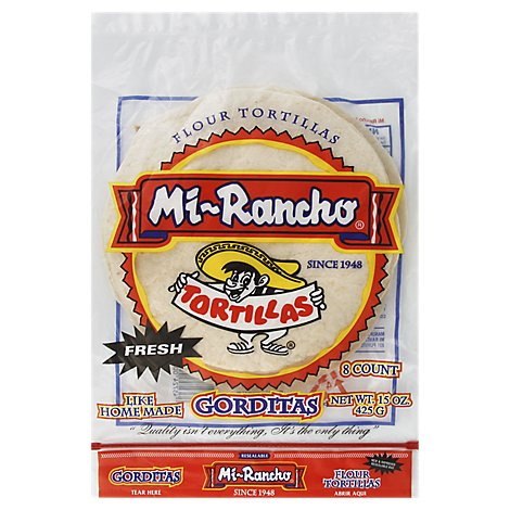 Mi Rancho Tortilla Flour Gorditas Bag 8 Count - 15 Oz