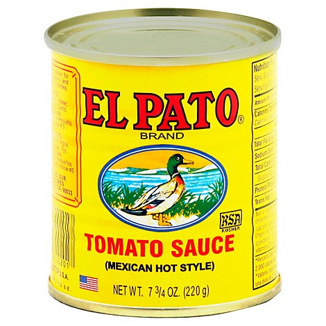 El Pato Tomato Sauce Mexican Hot Style Can - 7.75 Oz