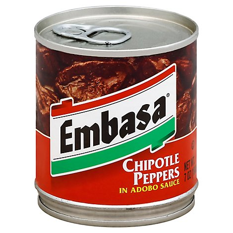 Embasa Peppers Chipotle in Adobo Sauce Can - 7 Oz
