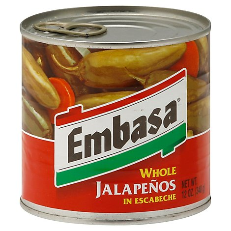 Embasa Jalapenos Whole in Escabeche Can - 12 Oz
