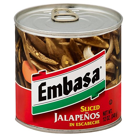 Embasa Jalapenos Sliced in Escabeche Can - 12 Oz