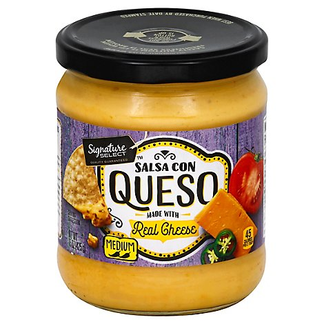 Signature SELECT Salsa Con Queso Medium Jar - 15 Oz