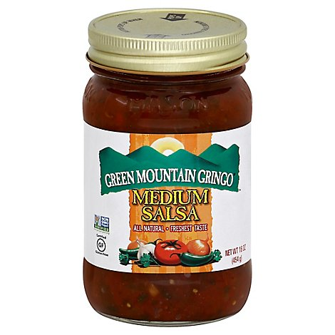 Green Mountain Gringo Salsa Medium Jar - 16 Oz