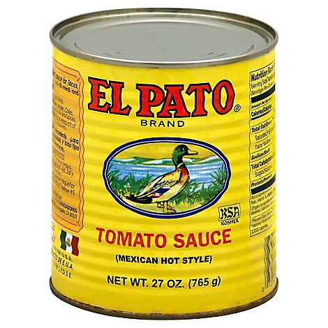 El Pato Tomato Sauce Mexican Hot Style Can - 27 Oz