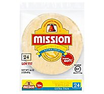 Mission Tortillas Corn Yellow Super Soft Extra Thin 24 Count - 16 Oz