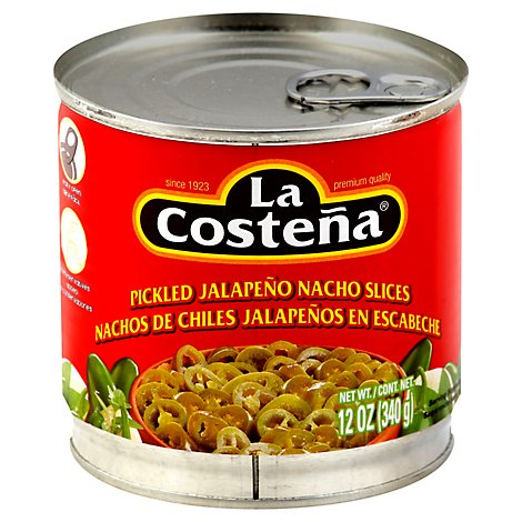 La Costena Jalapeno Nacho Slices Pickled Can - 12 Oz