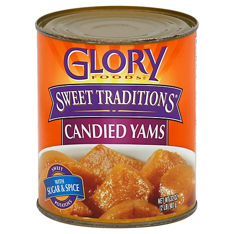 Glory Foods Sweet Traditions Yams Candied - 32 Oz