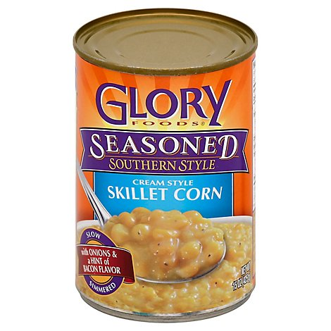 Glory Foods Seasoned Southern Style Corn Cream Style Skillet - 15 Oz