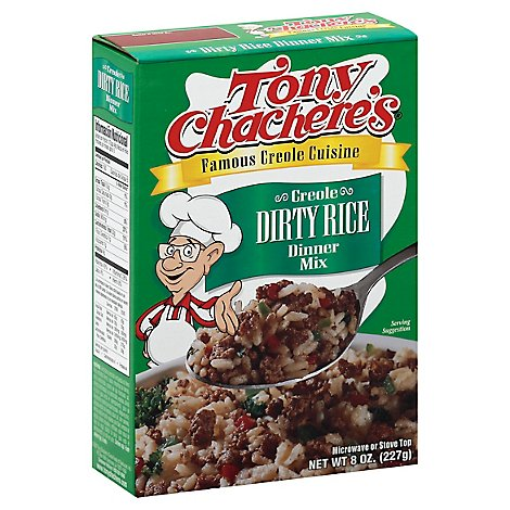 Tony Chacheres Dinner Mix Creole Dirty Rice Box - 8 Oz