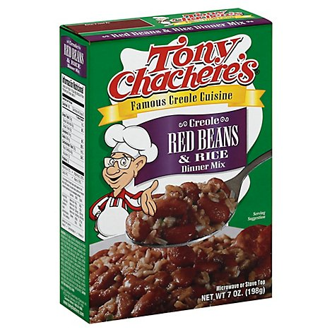 Tony Chacheres Dinner Mix Creole Red Beans & Rice Box - 7 Oz