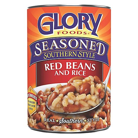 Glory Foods Seasoned Southern Style Red Beans and Rice - 15 Oz