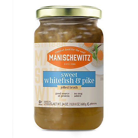 Manischewitz Sweet Whitefish And Pike - 24 Oz