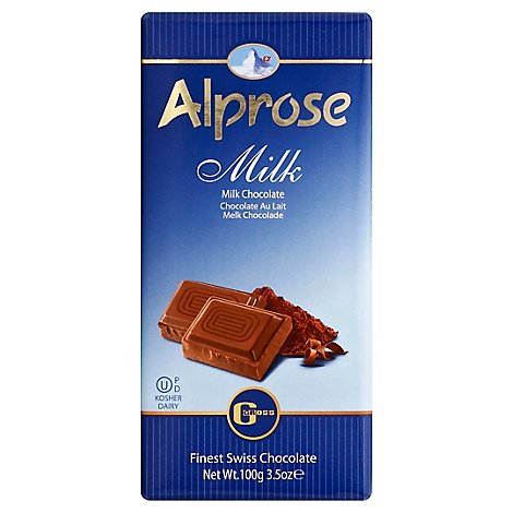 Alprose Milk Chocolate Bar Parve - 3.5 Oz
