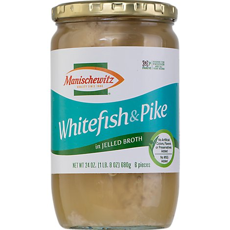 Manischewitz Jellied White Fish & Pike - 24 Oz