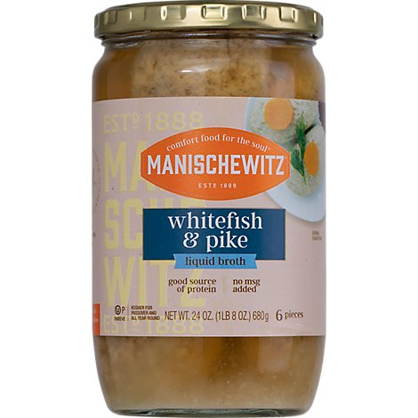 Manischewitz Clear Whitefish & Pike - 24 Oz