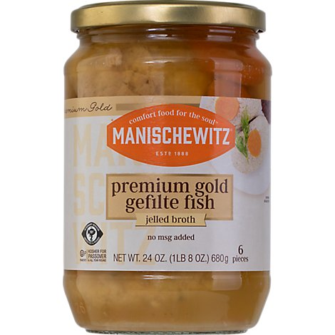 Manischewitz Gold Label Gefilte Fish - 24 Oz