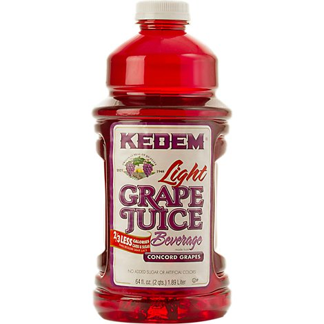 Kedem Light Grape Beverage Juice - 64 Fl. Oz.
