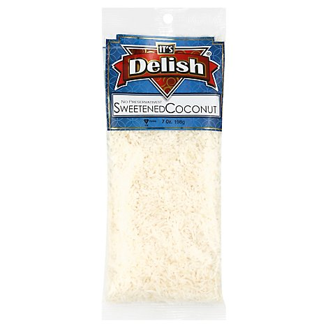 Its Delish Specialty Food Sweetened Coconut - 7 Oz