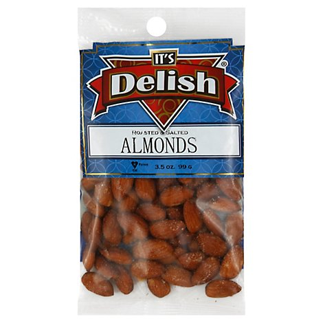Its Delish Specialty Food Almonds Roasted Salted - 3.5 Oz
