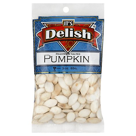 Its Delish Specialty Food Pumpkin Seeds Roasted Salted - 3 Oz