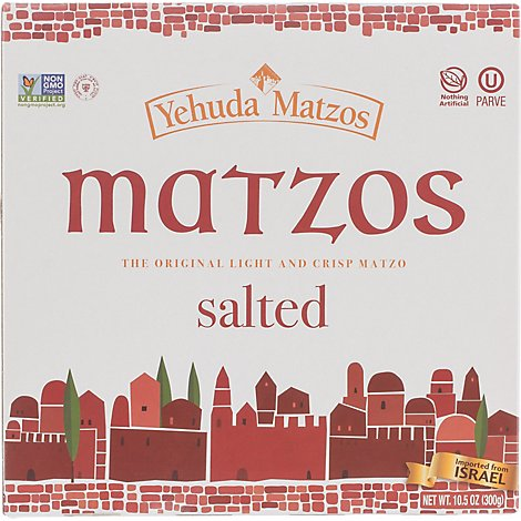 Yehuda Salted Matzo Thins Jerusalem Baked - 10.5 Oz