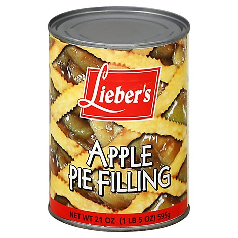 Liebers Pie Filling Apple - 21 Oz