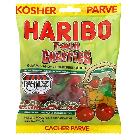 Paskesz Haribo Twin Cherry - 5.29 Oz