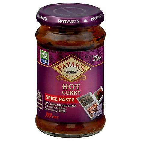 Pataks Hot Curry Paste - 10 Oz