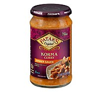 Pataks Simmer Sauce Korma Curry Cream Coconut & Spices Mild - 15 Oz